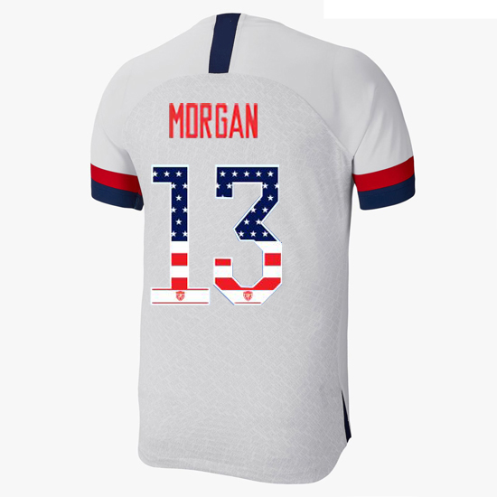 2019/20 USA Home Alex Morgan Men's Jersey Independence Day