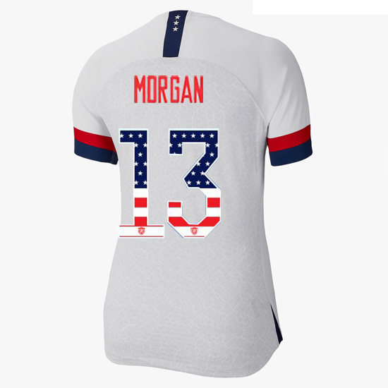 2019/20 USA Home Alex Morgan Women's Jersey Independence Day