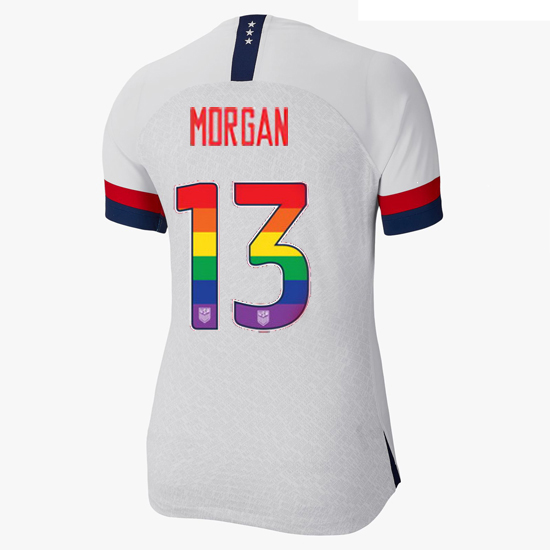 2019/20 USA White Alex Morgan Women's Jersey Rainbow Numbers