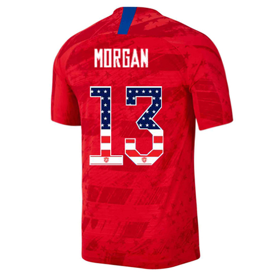 2019/20 USA Away Alex Morgan Men's Jersey Independence Day
