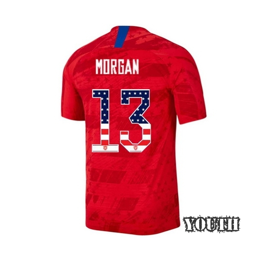 2019/20 USA Away Alex Morgan Youth Jersey Independence Day