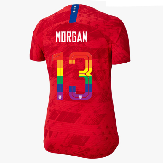 2019/20 USA Red Alex Morgan Women's Jersey PRIDE