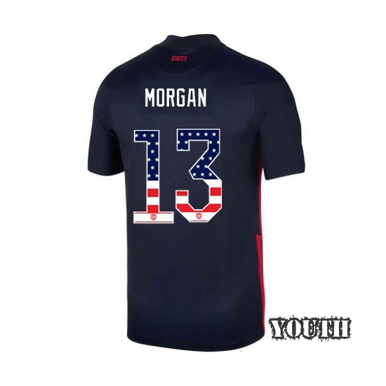 2020/21 USA Away Alex Morgan Youth Jersey Independence Day