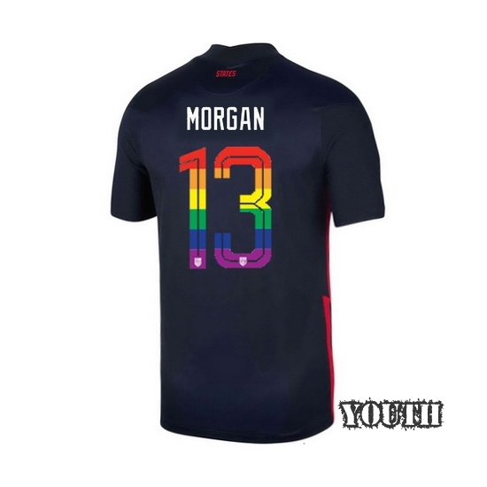 2020/21 USA Navy Alex Morgan Youth Soccer Jersey PRIDE