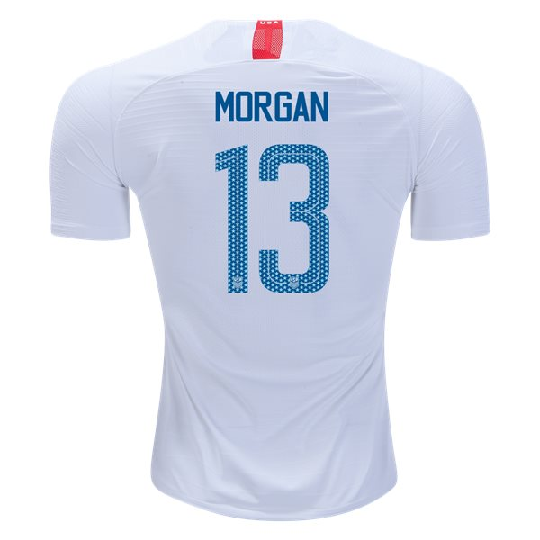 2018/19 USA Home Alex Morgan Men's Authentic Soccer Jersey (#13)