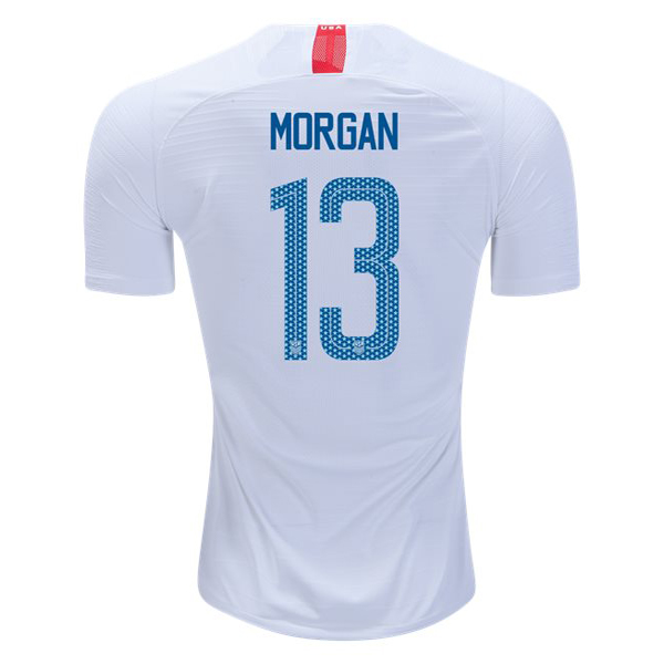 2018/19 USA Home Alex Morgan Replica Men's Soccer Jersey (#13)