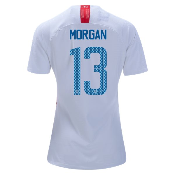 2018/19 USA Home Alex Morgan Women's 3-Star Soccer Jersey (#13)