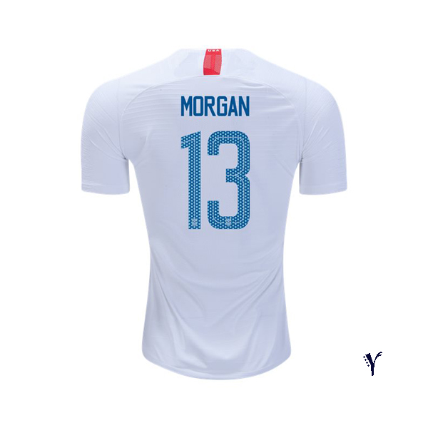 2018/19 USA Home Alex Morgan Youth Soccer Jersey (#13)