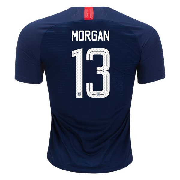 2018/19 USA Away Alex Morgan Men's Authentic Soccer Jersey (#13)