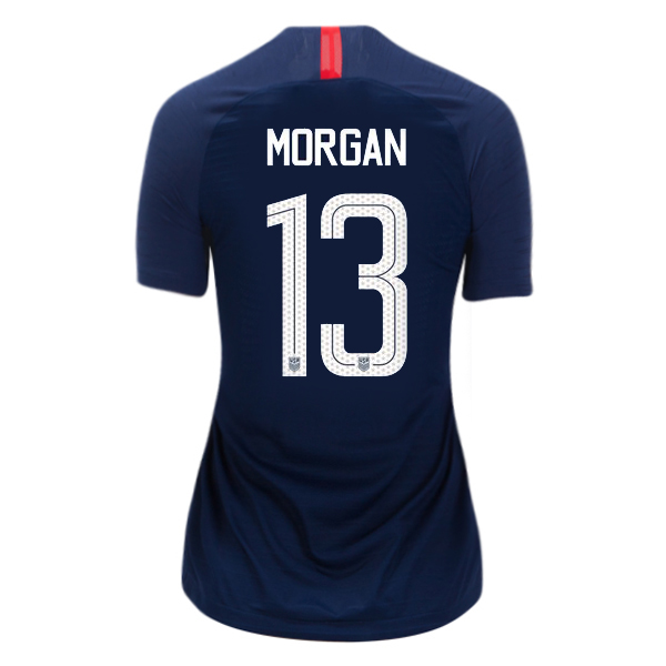 2018/19 USA Away Alex Morgan Women's 3-Star Soccer Jersey (#13)