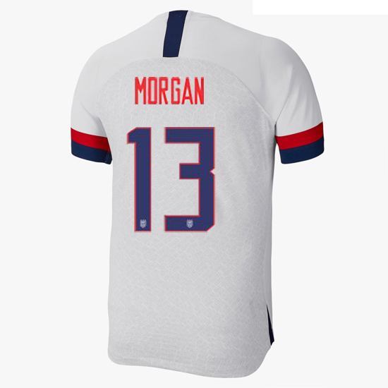 2019/20 USA Home Alex Morgan Men's Authentic Soccer Jersey (#13)