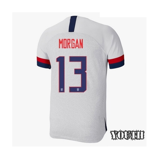 2019/20 USA Home Alex Morgan Youth Soccer Jersey (#13)