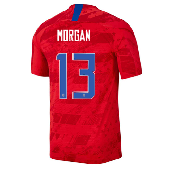 2019/20 USA Away Alex Morgan Men's Authentic Soccer Jersey (#13)