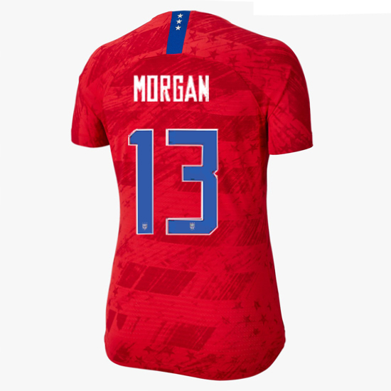 2019/20 USA Away Alex Morgan Women's 4-Star Soccer Jersey (#13)