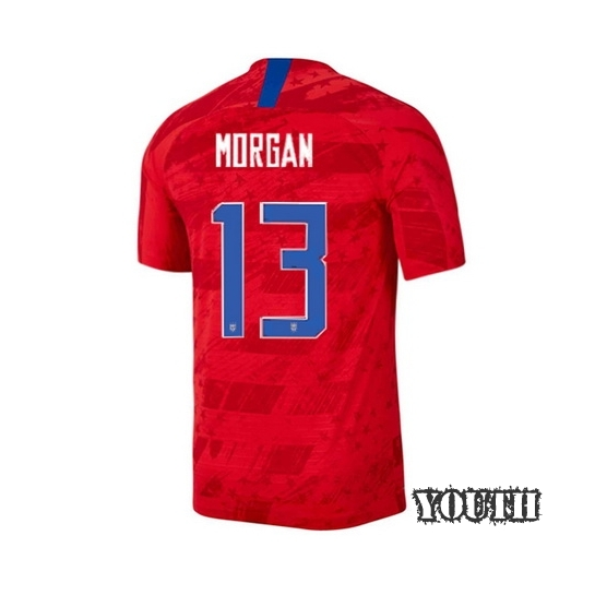 2019/20 USA Away Alex Morgan Youth Soccer Jersey For Sale (#13)