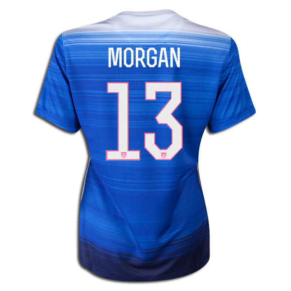 2015/16 Alex Morgan Away #13 Women's 3-Star Soccer Jersey USA