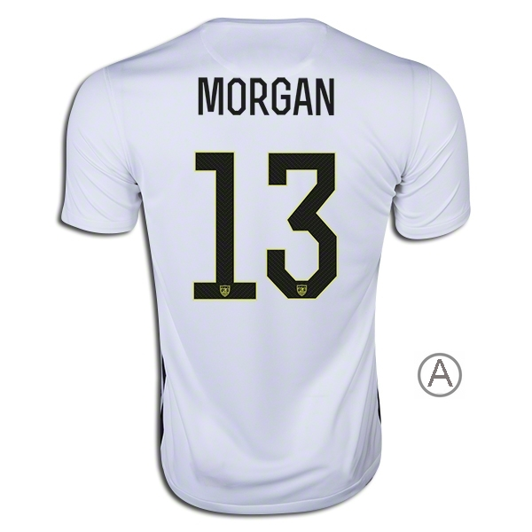 2015/16 Alex Morgan Home Men's Authentic Soccer Jersey #13 USA