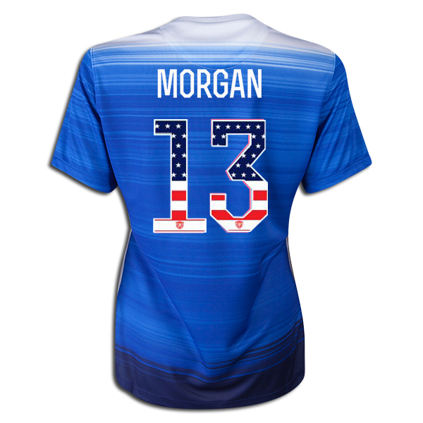 2015/16 Alex Morgan Away Women's 3-Star Jersey #13 USA Independence Day - Click Image to Close