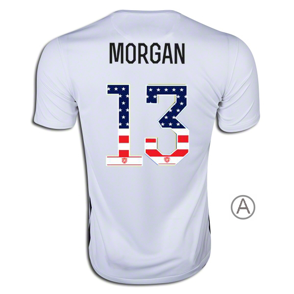 2015/16 Alex Morgan Home Men's Authentic Jersey #13 USA Independence Day