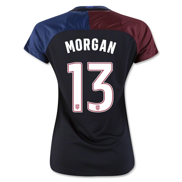 2016/17 Alex Morgan Away 3-Star Soccer Women's Jersey #13 USA
