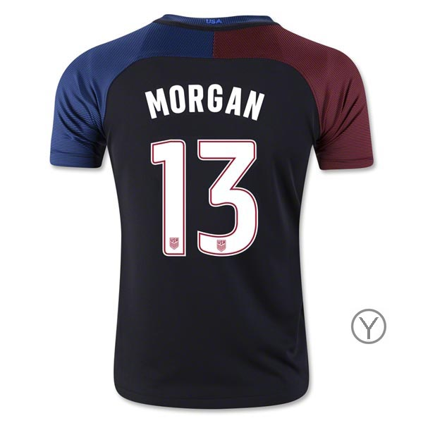 2016/17 Alex Morgan Away Youth Soccer Jersey #13 USA Team