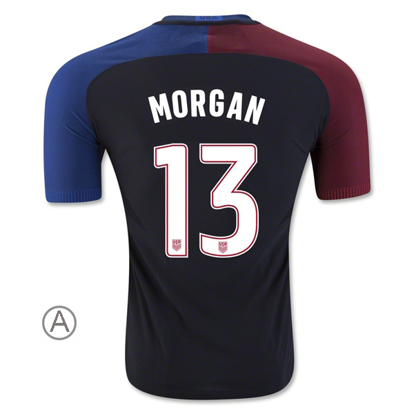 2016/17 Alex Morgan Away Men's Authentic Soccer Jersey #13 USA
