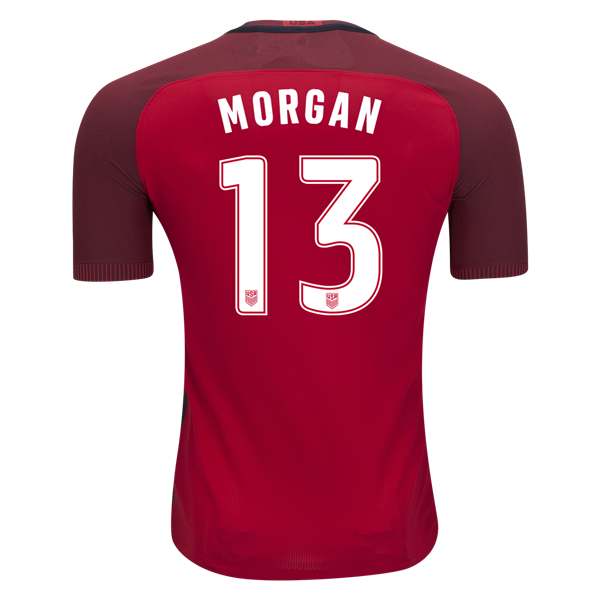 2017/18 USA Third Alex Morgan Men's Authentic Soccer Jersey (#13)