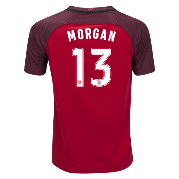 2017/18 USA Third Alex Morgan Youth Soccer Jersey (#13) - Click Image to Close